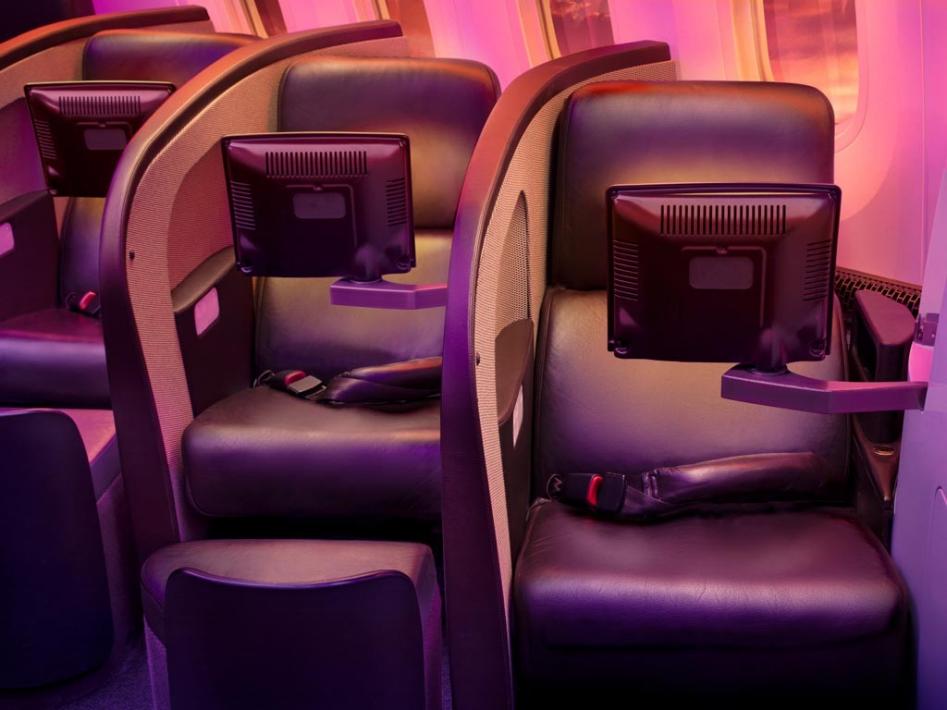 Virgin Atlantic Upper Class seat.