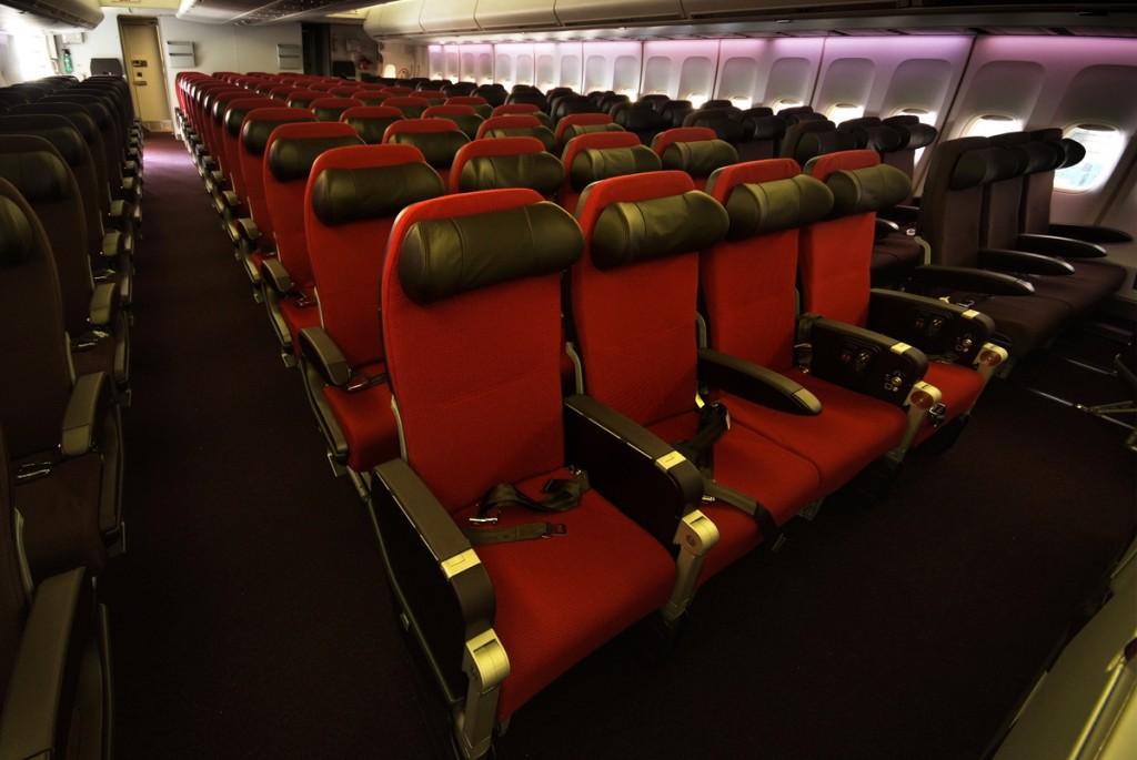 Virgin Atlantic 747-400 Economy Cabin Layout