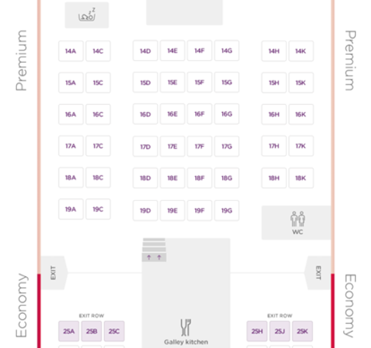 Virgin Atlantic 747 Premium Layout - Main Deck