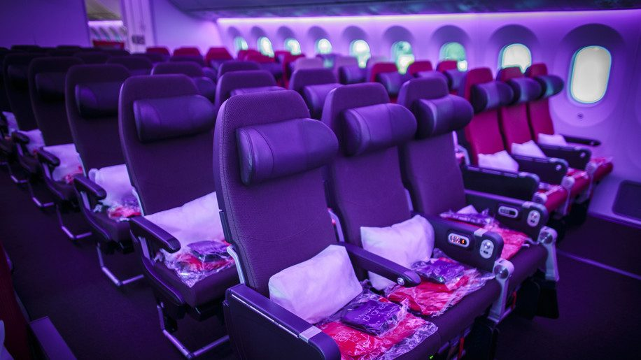 Virgin Atlantic 787 Economy Cabin Interior