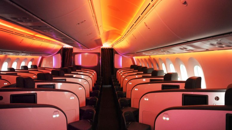 Virgin Atlantic 787 Upper Class Cabin Interior