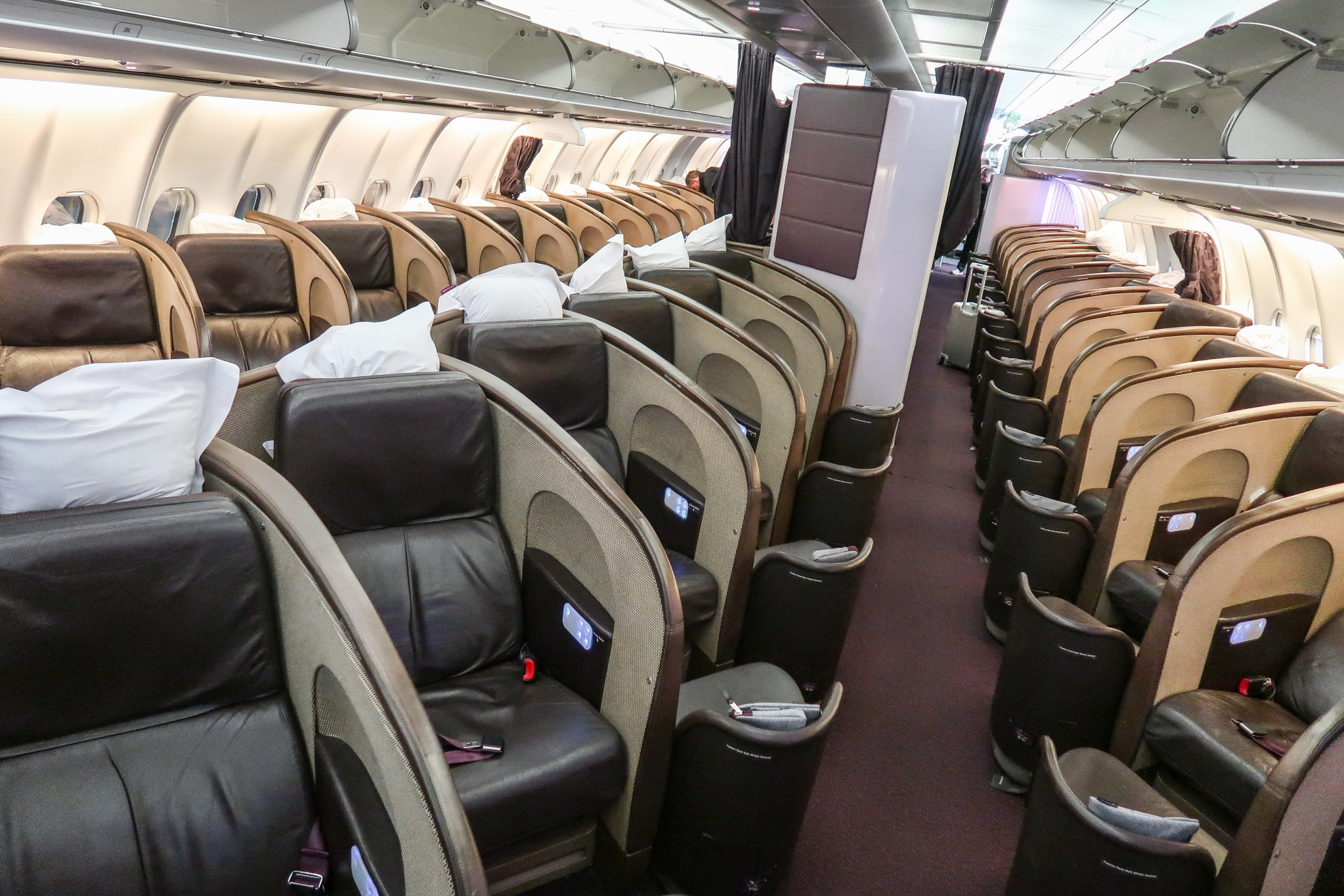 Virgin Atlantic A340 Upper Class Cabin Interior