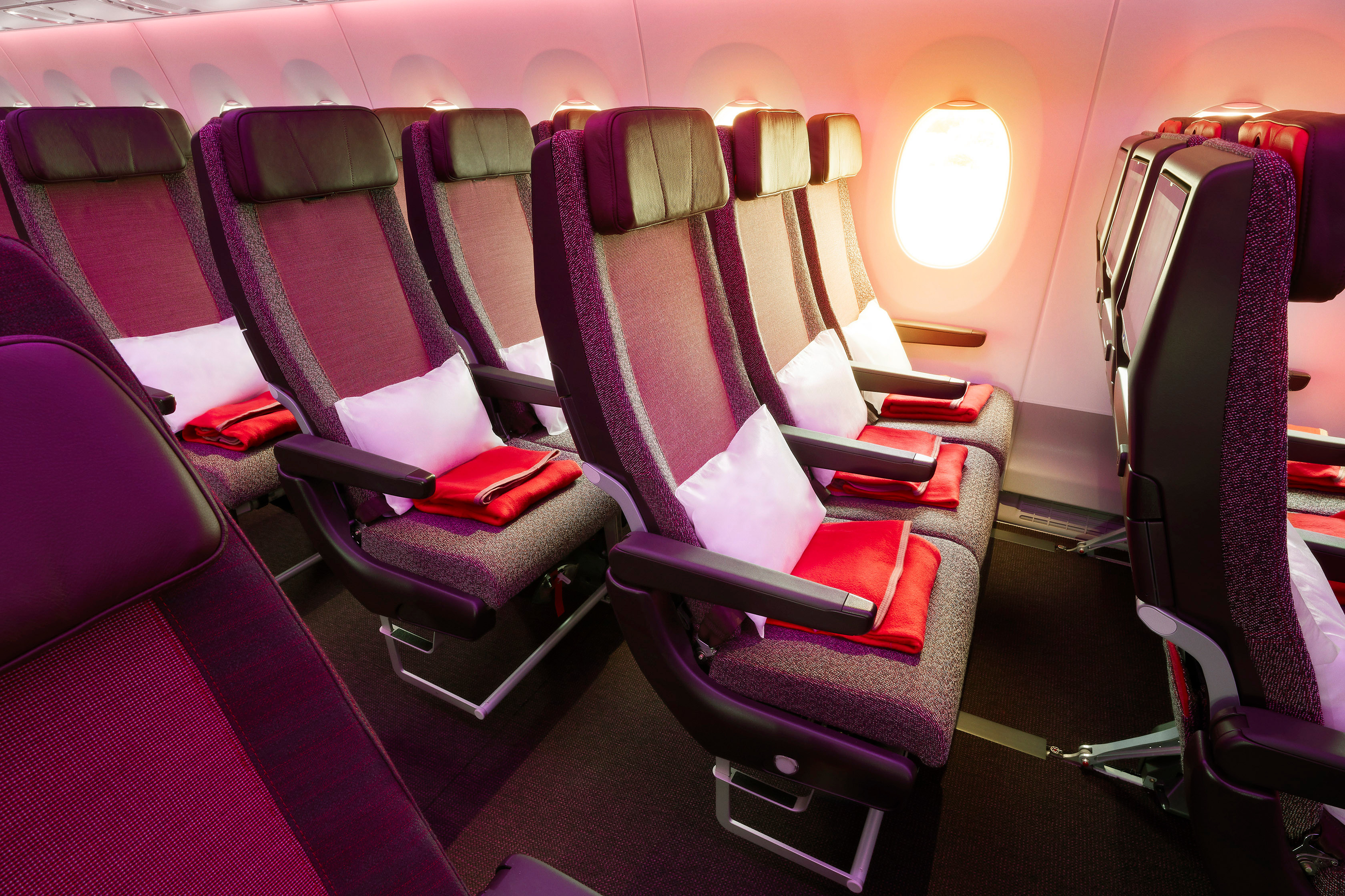 Virgin Atlantic A350-1000 Economy Cabin Interior