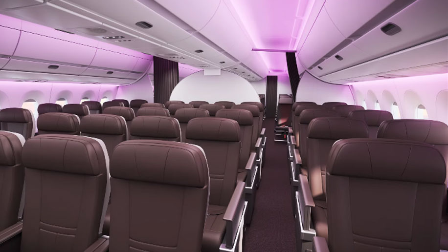 Virgin Atlantic A350 Premium Cabin Interior