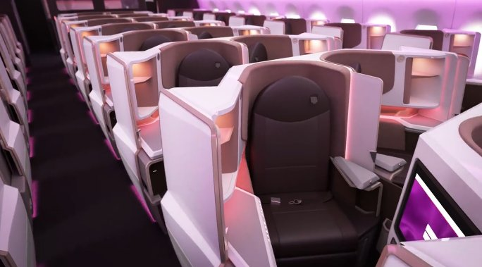 Virgin Atlantic A350 Upper Class Cabin Interior
