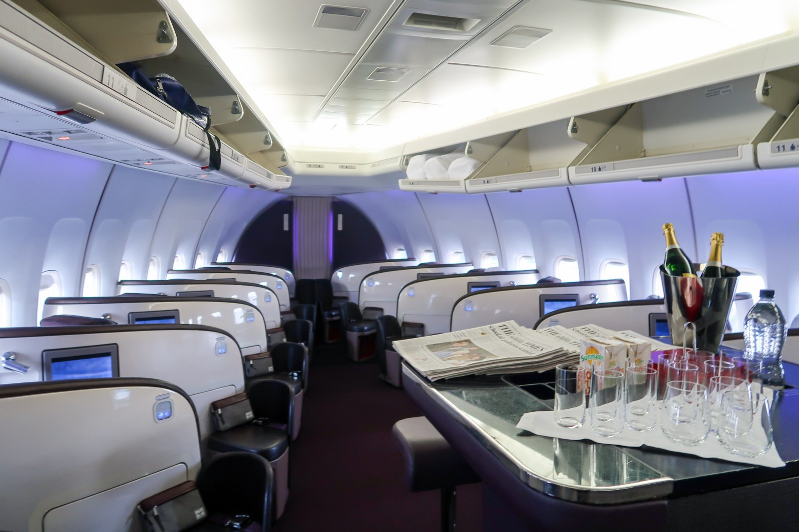 Virgin Atlantic 747 Upper Class Interior